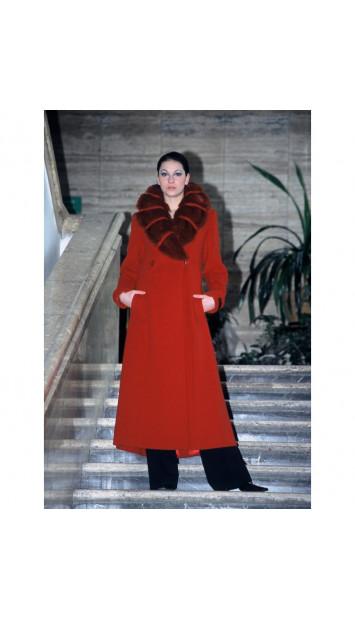 Kabát červený Ivar - 9236