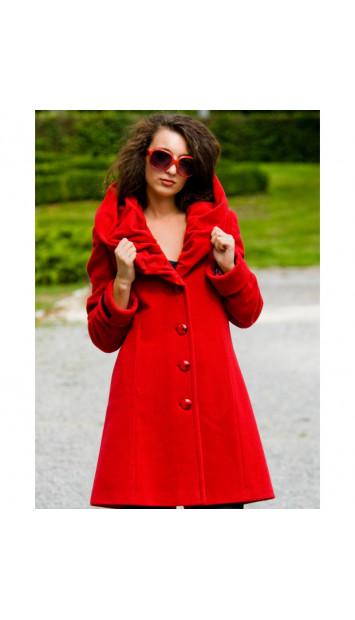Kabát červený Petra - 4002
