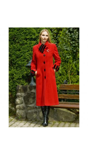 Kabát červený Nora - 4014