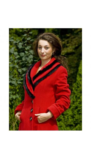 Kabát červený Judita - 4026