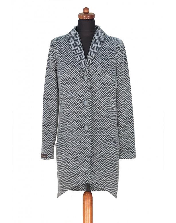 Plášť Čierno biely Fin - 5296 Color 472