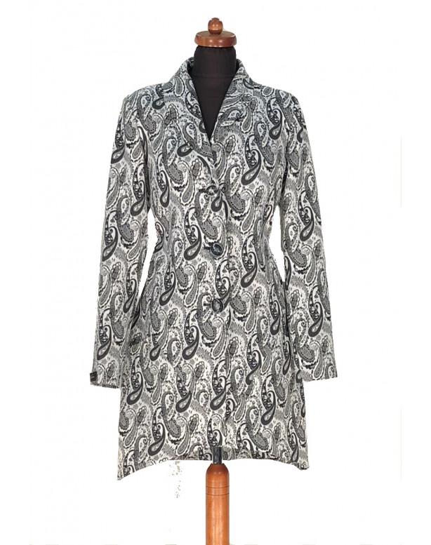 Plášť Čierno biely Fin - 5296 Color 380