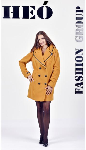 Kabát žltý Row - 5132 Color 148