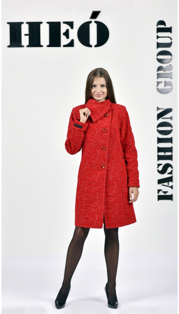 Kabát červený Malvina - 5236.1 Color 428