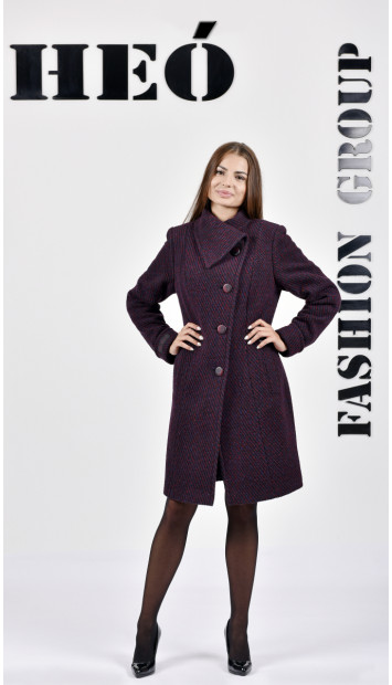 Kabát bordový Malvina - 5236.1 Color 437
