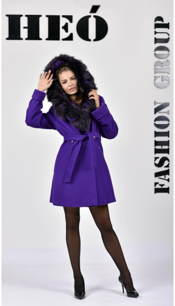 Kabát fialový Radka - 5256 Color 400