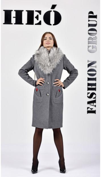 Kabát sivy Marmi  - 5287 Color 78