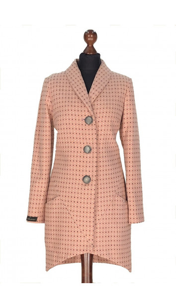 Kabát rúžový Fin - 5284.1 Color 526