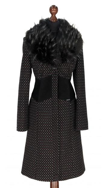 Kabát čierno-rúžovy Aahil - 5306 Color 527/77