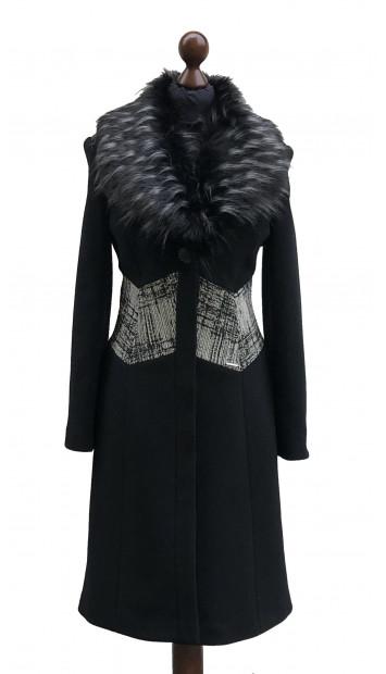Kabát čierny Aahil - 5306 Color 77/516