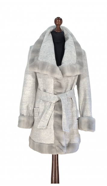 Kabát sivý Aanisah - 5308.1 Color 505
