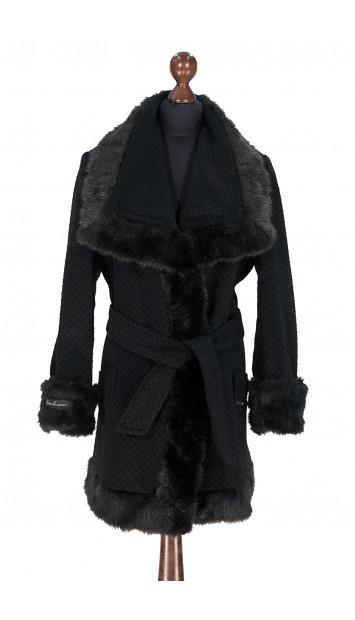 Kabát čierny Aanisah - 5308.1 Color 522