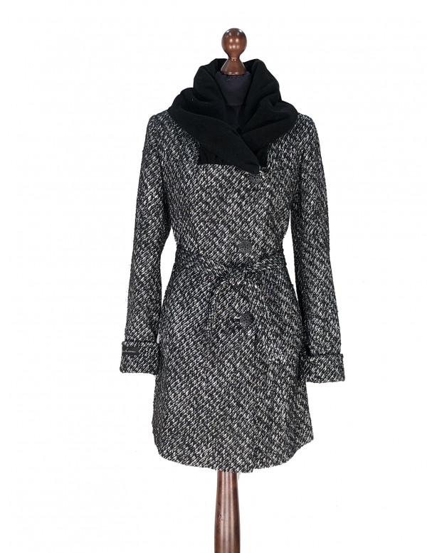 Kabát čierno-biely Aaryan - 5310.1 Color 524/77