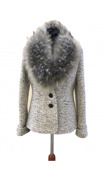 Kabát sivý Aasimah - 5311.1 Color 352