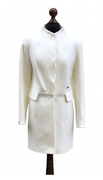 Kabát biely Aazeen - 5314 Color 228