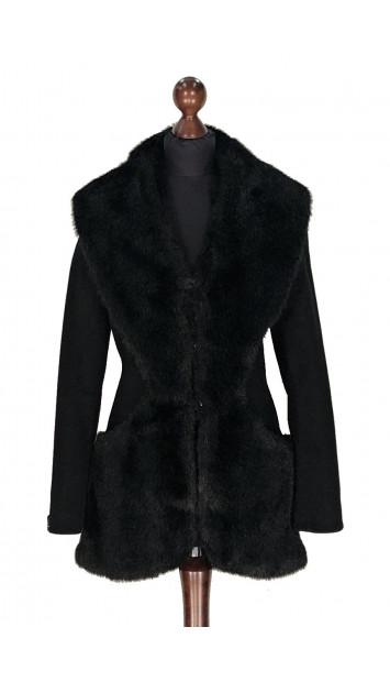 Kabát čierny Abbud - 5316 Color 77