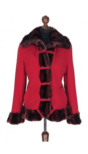 Kabát červený Abd-al-Alim - 5319 Color 106