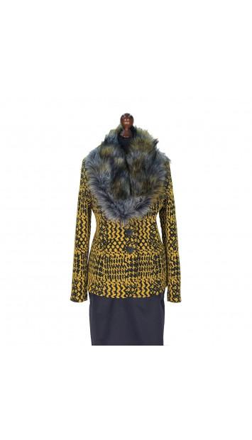 Kabát žlto-čierny Abdel - 5322.1 Color 518