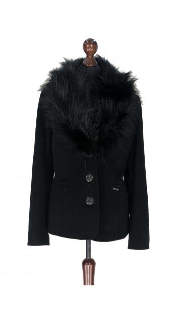 Kabát čierny Abdel - 5322.1 Color 77