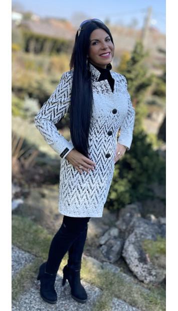 Plášť Čierno biely Assh - 5220.11 color 002