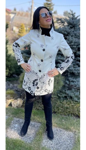 Plášť Čierno biely Assh - 5220.11 color 004