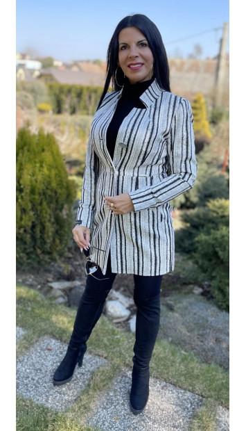 Plášť Čierno biely Assh - 5220.1 color 005