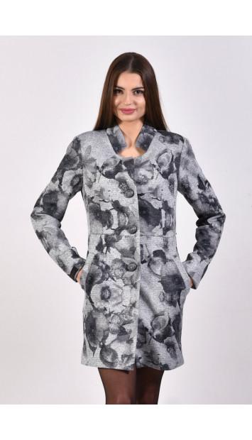 Plášť čierno biely Assh 5220.1 color 325