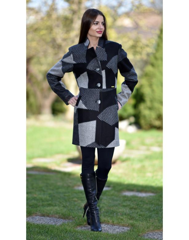 Kabát čierny Sigma - 5177.1 Color 312/312