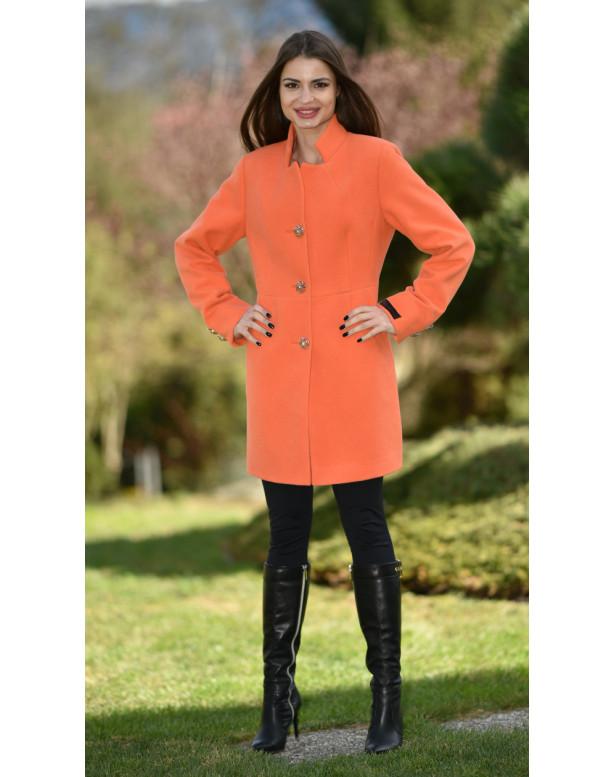 Kabát oranžový Sigma - 5177 Color 370