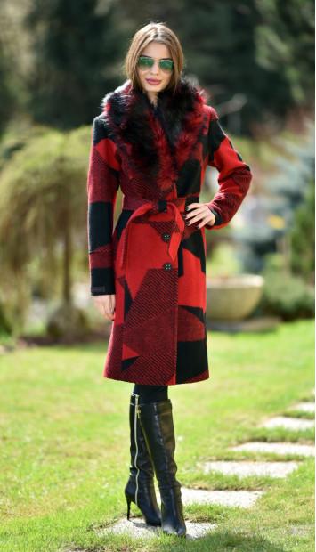 Kabát červený Lincoln - 5190.11 COLOR 342