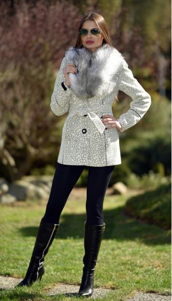 Kabát biely Lincolnik - 5194.1 Color 253