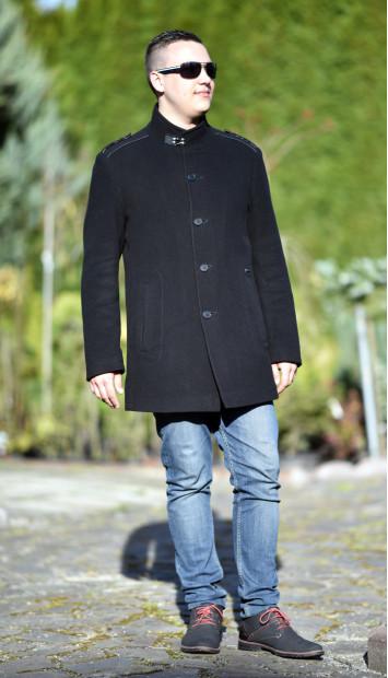 Kabát čierny Michal - 5231 Color 77