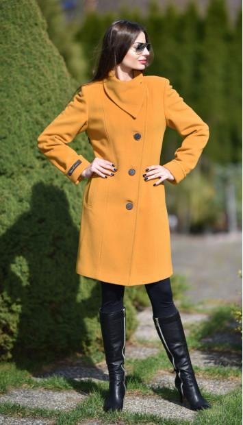 Kabát žltý Malvina - 5236 Color 148