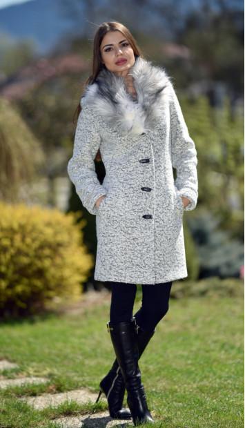 Kabát  biely Gema - 5237.1