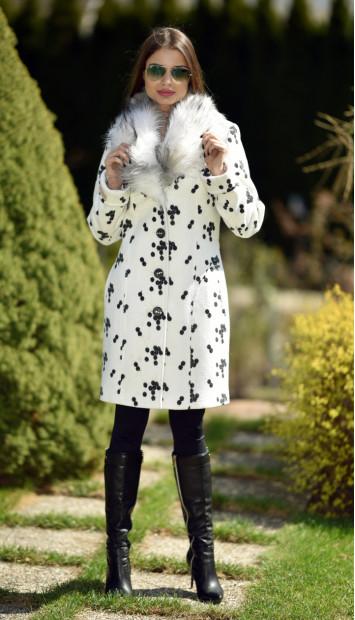 Kabát biely Gema - 5237.1 Color 357