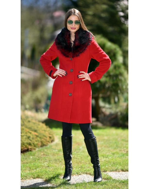 Kabát červený Gema - 5237 Color 106