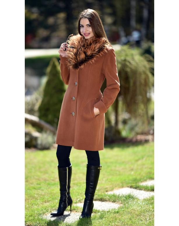 Kabát hnedý Gema - 5237 Color 337
