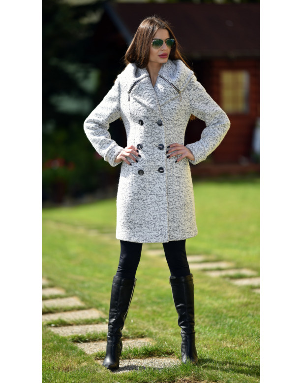 Kabát sivý Kjara - 5239.1 color 352