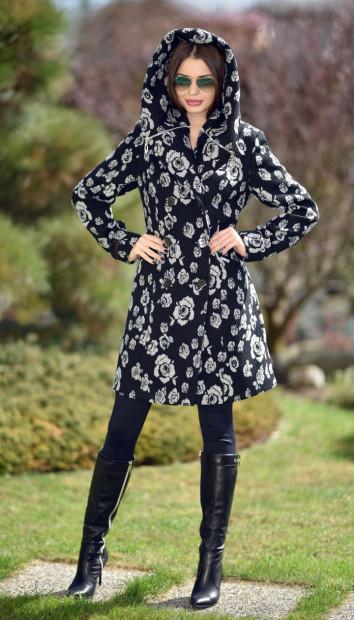 Kabát čierny Kjara -  5239.1 color 360