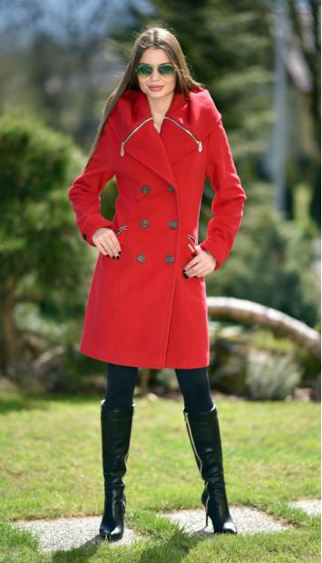 Kabát červený Kjara - 5239 color 106