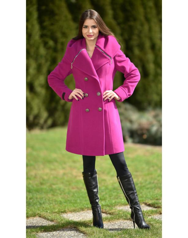 Kabát cyklamenový Kjara - 5239 color 227