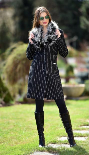 Kabát čierny Jara - 5241 Color 351
