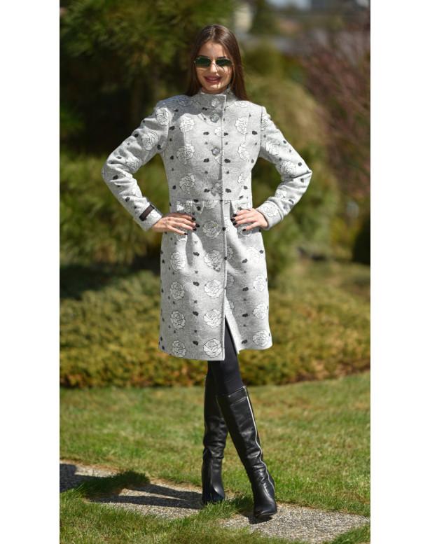 Kabát sivý Tiril - 5242.1 Color 354/354