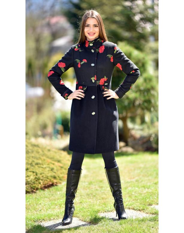 Kabát čierny Tiril - 5242.1 Color 355/77