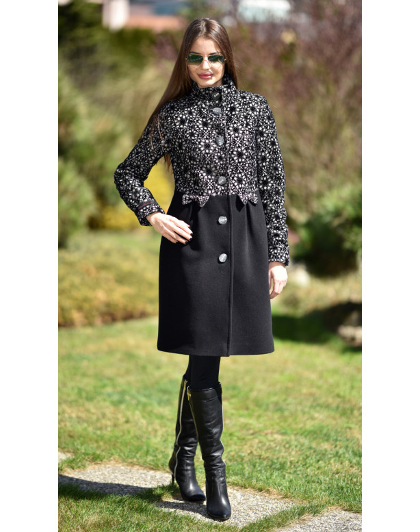 Kabát čierny Tiril - 5242.1 Color 358/77