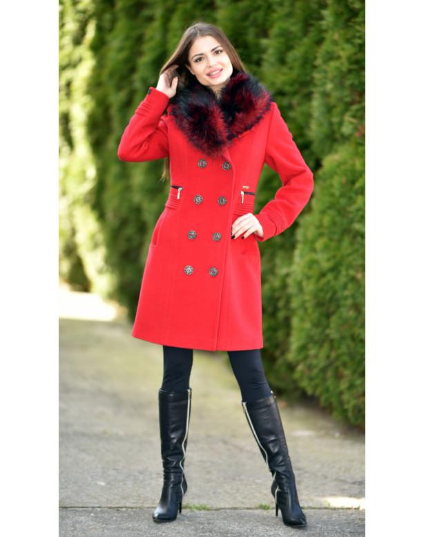 Kabát červený Laila - 5248 Color 106