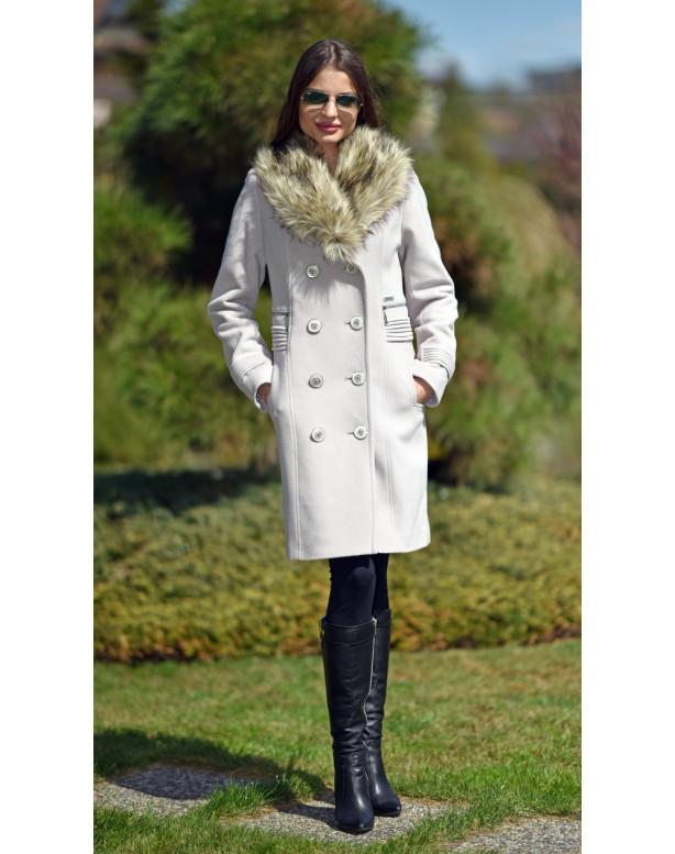 Kabát béžový Laila - 5248 Color 246
