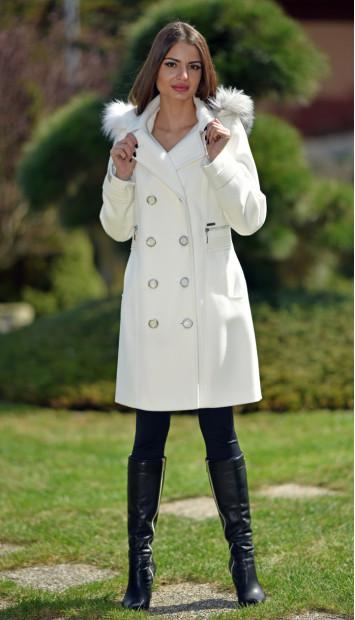 Kabát bežový Natália - 5249 Color 228