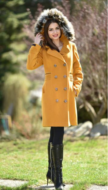 Kabát žltý Slavomíra - 5253 Color 148