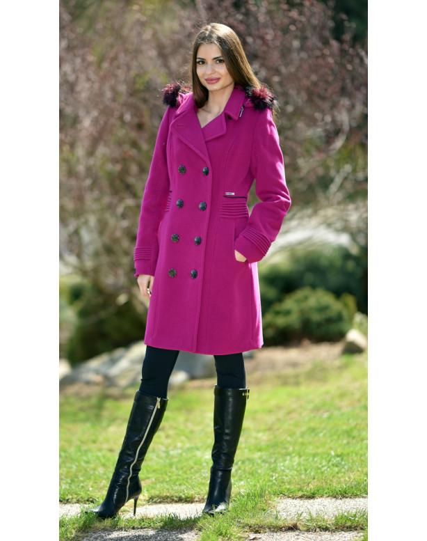 Kabát cyklamenový Slavomíra - 5253 Color 227